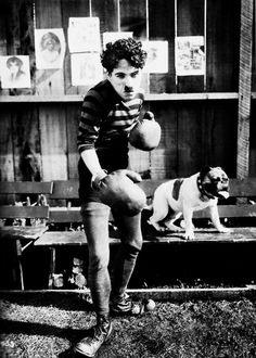 """Charlie Chaplin in """"The Champion"""" (1915)"""