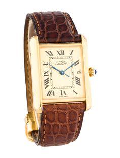 Cartier Tank Vermeil Watch