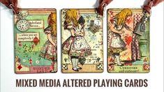Ribena, Diy Playing Cards, Art Journal Tutorial, Easy Youtube, Tile Art, Puzzle Pieces, Alters, Atc, Mixed Media Art