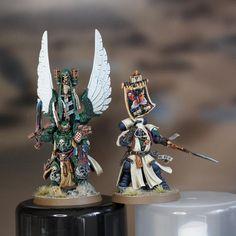 My take on Azrael & Ezekiel Warhammer Dark Angels, Dark Angels 40k, Warhammer 40k Figures, Warhammer Paint, Warhammer Models, Warhammer 40k Miniatures, Warhammer 40000, Space Angels, Dark Eldar