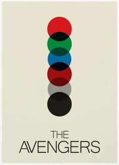 The Avengers Minimalist Poster A3 Print by Posterinspired on Etsy