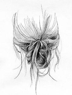 messy bun studies by Ian Thomas