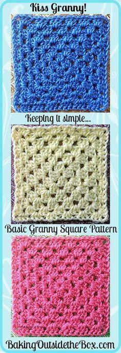 Baking Outside the Box: free basic granny square crochet pattern