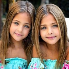 Since their birth in identical twins Ava Marie and Leah Rose Clements have dazzled thousands with their incontrovertible beauty. At just seven years old, the Clements Twins are signed with two world-class agencies and… Beautiful Little Girls, Beautiful Children, Beautiful Eyes, Beautiful Babies, Pretty Kids, Most Beautiful Models, Cute Twins, Cute Girls, Cute Babies