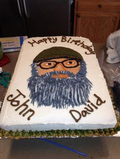 Duck Dynasty Cake How To Duck dynasty cakes Duck dynasty and Cake