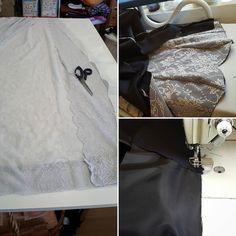 Hääpukua pukkaa #weddings #weddingdress #lace #blackandgray #mermaid #hääpuku #morsiuspuku #mustaajaharmaata #pitsiä