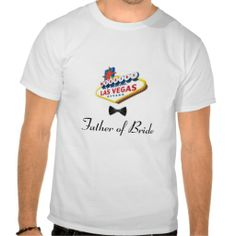 Las Vegas WEDDING Black Bow Tie Father of Bride T Tshirts