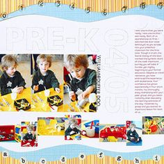 Scrapbook Multiple Detail Photos with a Filmstrip-Style Design  Design by Tina Barriscale