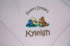 Personalized Baby Blanket Pooh Eeyore Tigger Piglet Baby Blanket by Dana Marie Creations, $14.50