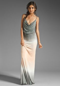 YOUNG, FABULOUS & BROKE Lavinia Maxi Dress in Grey Double Ombre at Revolve Clothing - Free Shipping!
