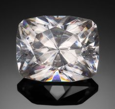 Gems:Faceted, RARE GEMSTONE: CERUSSITE - 46.33 CT. . Tsumeb, Namibia. ... Image #1
