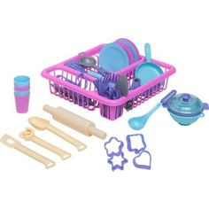 £9.99 Chad Valley Pretend Play 50 Piece Utensil Set at Argos.co.uk - Your Online Shop for Toys under 10 pounds, Cooking role play, 2 for 15 pounds on Toys.