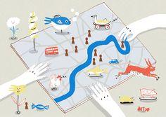 VO | Valérie Oualid : Agent d'illustrateurs | Marie Assénat | All Barefoot Wine, Paris Baguette, The New Yorker, 4 Image, Tokyo, Paris 3, Conception, Maps, Commercial