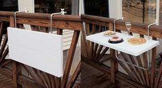 Идеи для балкона   -  Складные столики