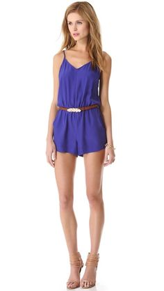 Parker Edie Romper with hot pink belt...getting ready outfit (something blue)
