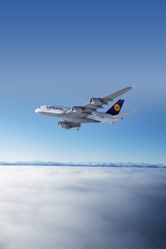 Above the clouds . A380.