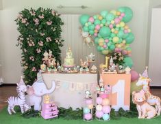 2nd Birthday Party For Girl, Jungle Theme Birthday, Safari Birthday Party, Flamingo Birthday, Bday Girl, Birthday Decorations At Home, Bridal Shower Decorations, Festa Safari Baby, Wedding Showers
