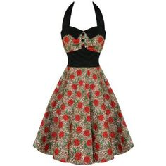 HELL BUNNY CHARLIE ROCKABILLY LEOPARD 50S PROM DRESS: Amazon.co.uk: Clothing