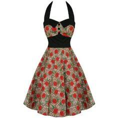 HELL BUNNY CHARLIE ROCKABILLY LEOPARD 50S PROM DRESS: Amazon.co.uk: Clothing