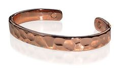 Magnetic Copper Cuff Bracelet with Hammered Finish 7.5 inches Long Gem Avenue. $10.99. Shiny Copper tone Bracelet. Magnetic Copper Cuff Bracelet 7.5 inches. 2 Magnets with 2000 Gauss each. 0.5 inches wide Bracelet. Gem Avenue sku # JBMCM20. Save 50%!