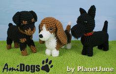 Special Deal AmiDogs Set 7 3 amigurumi dog PDF by PlanetJune