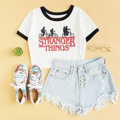 Makeup Looks For Teens Schools Summer Outfits 23 Ideas For 2019 Cute Lazy Outfits, Summer Outfits For Teens, Teenage Outfits, Teen Fashion Outfits, Stylish Outfits, Girl Outfits, Preteen Fashion, Fashion Fashion, Jugend Mode Outfits