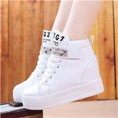 Fabulous New Fashion Rhinestone Middle Heels Sneaker