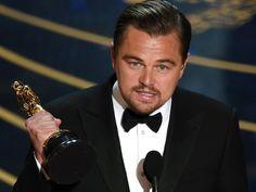 Leonardo DiCaprio alerta sobre mudanças climáticas em discurso no Oscar