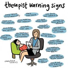 """Here are 19 therapist """"warning signs"""" to watch out for. Mental Health Therapy, Mental And Emotional Health, Mental Health Matters, Mental Health Awareness, Mental Health Signs, Mental Health Issues, Emotional Healing, Create A Comic, Coaching"""