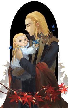 Thranduil and Legolas by tinyyang.deviantart.com on @deviantART