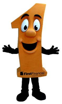 Meet the Number One Mascot we made for First Financial Credit Union!