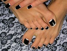 Looking for unique toe nail designs to get inspired? These toe nail arts will make you crazy to get a fresh pedicure in Must see list for picky girls. Black Toe Nails, Pretty Toe Nails, Cute Toe Nails, My Nails, White Toenails, Black Nail, Dark Nails, Blue Nails, French Nails