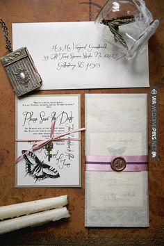 butterfly wedding stationery | VIA #WEDDINGPINS.NET