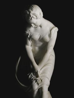 Henry Weekes 1807 - 1877 BRITISH, THE YOUNG NATURALIST signed and dated: H. WEEKES, A.R.A. Sc. / 1857. white marble, on an oak panelled plinth. Marble: 146 cm