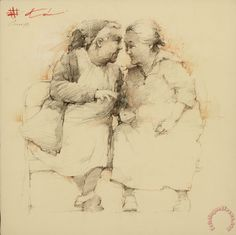 Gossips Painting by Andre Kohn