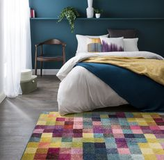 Shop for rugs at Carpetright, the UK's leading rug retailer. Buy from our new range of high quality, great value rugs, runners and doormats today. Furniture, Carpet, Pink Rug, Home Decor, Rugs, Bed, Flooring, Contemporary Rug, Door Mat