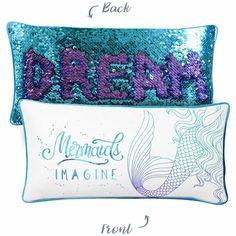 IMAGINE Mermaid Pillow w/ Reversible Sequins Back