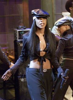 Aaliyah; Last live performance, on the Jay Leno show (Happy Birthday 01/16/79)