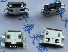 20 unids 5pin Micro USB tipo B de 0.8mm Conector Hembra Para Móviles teléfono mini Conector Jack USB 5pin Toma de Carga de Cuatro pies de enchufe