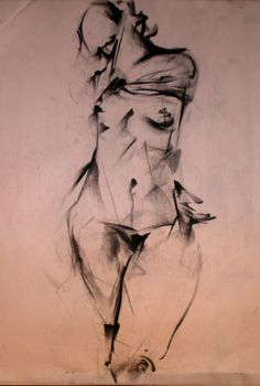 """A History of Everything In The Form of You"" by John Arthur Ligda; San Francisco, CA (female nude fine art anatomy drawing)"