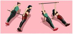 20 Simple Exercises with a Broom Stick to Strengthen Buttocks, Abdomen & Legs Squat, Broom Handle, Pilates Workout, Pilates Mat, Yoga Gym, Easy Workouts, Wonder Woman, Legs, Superhero