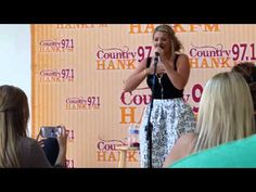 """Lauren Alaina sings her new song """"My Kind Of People"""" at Hank FM Studio #97.1HANK  Indianapolis, IN, #LARadioTour (July 21, 2015)"""