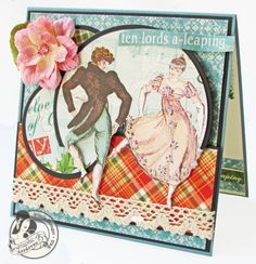Day 10: My true love gave to me, 10 lords a-leaping! Another fabulous card from Gloria! #12daysofgifttutorials #cards #graphic45