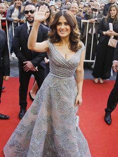 Star Tracks: Tuesday, April 28, 2015 | TALK TO THE HAND | Salma Hayek waves to the crowd at the premiere of her animated film The Prophet in Beirut, Lebanon, on Monday.