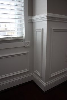 great molding chair rail ChairRail is part of Updating house - Home Renovation, Home Remodeling, Dining Room Wainscoting, Wainscoting Ideas, Flur Design, Wall Molding, Crown Molding, Moulding, Wall Trim