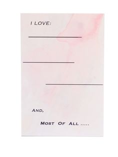 All the things I love about you...hand lettering on watercolor at Aquarelle Maison fine stationery.