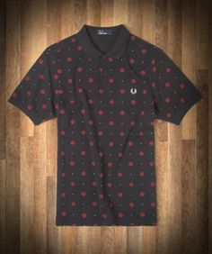 Fred Perry Polo with Twisted Wheel Rose Print Fred Perry Shirt, Fred Perry Polo, Wimbledon Champions, Polo Tees, Mod Fashion, Men Casual, Fashion Menswear, Style Inspiration, The Originals