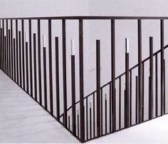 Eric Schmitt  AtElIEr dIA DiAiSM ACQUiRE UNDERSTANDiNG TjAnn  MOHD HATTA iSMAiL DiA ArT TraVeL TJANTeK ArT SPACE Exterior Handrail, Staircase Handrail, Iron Stair Railing, Interior Staircase, Balcony Railing, Deck Railings, Modern Staircase, Garde Corps Metal, Stair Elevator