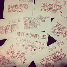 Romantic Scavenger Hunt and Couples Valentine Scavenger Hunt Clues ...