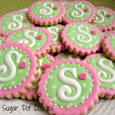 decorated sugar cookies bright | Little Savannah turned one. She must have had quite a party!